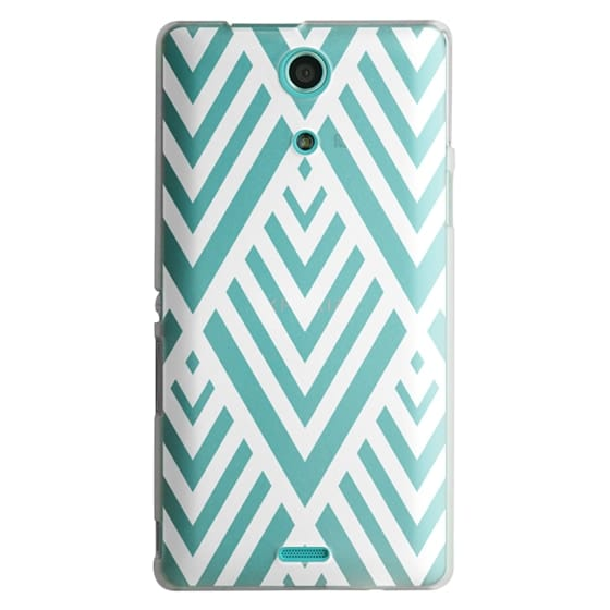 Sony Zr Cases - White Geometric Pattern