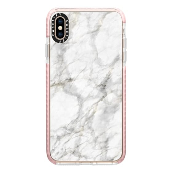 iPhone XS Max Cases - White Marble