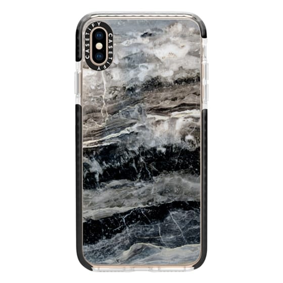 iPhone XS Max Cases - Onyx Black Marble