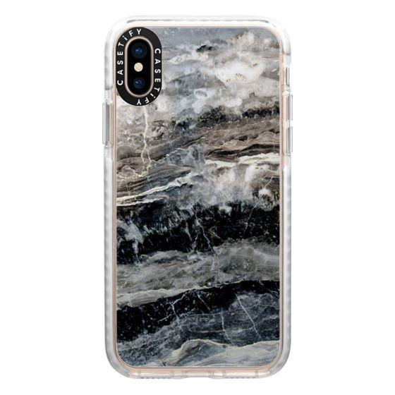 iPhone XS Cases - Onyx Black Marble