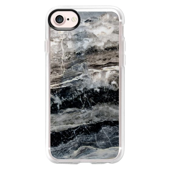 iPhone 7 Cases - Onyx Black Marble