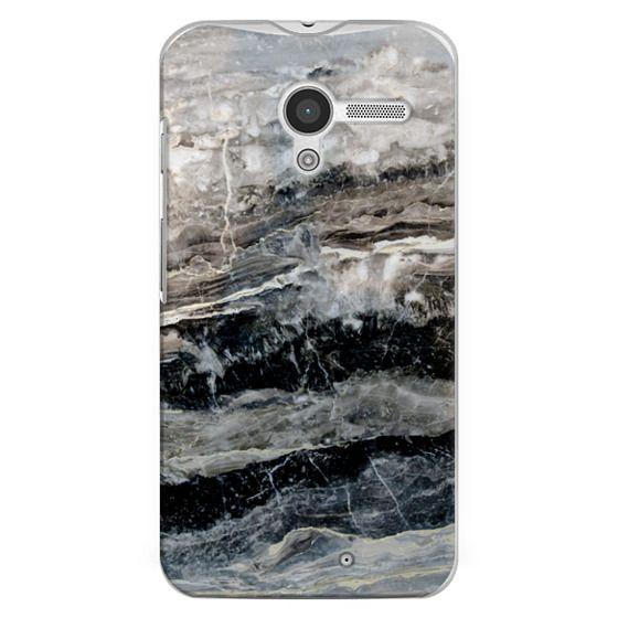 Moto X Cases - Onyx Black Marble