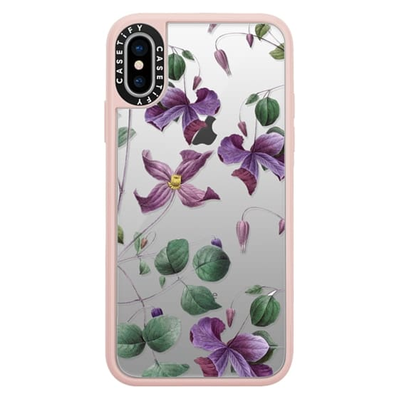 iPhone X Cases - Vintage Botanical - Wild Flowers