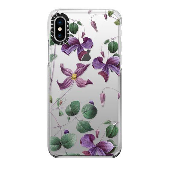 iPhone X Cases - Vintage Botanical - Wild Flowers