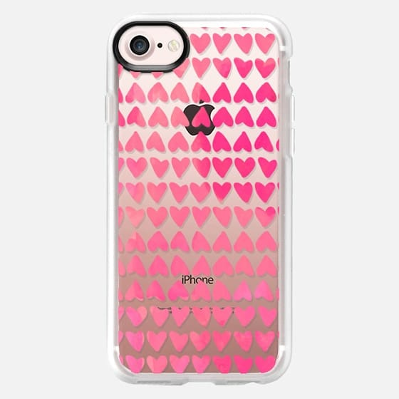 Pink Watercolor Hearts - Snap Case