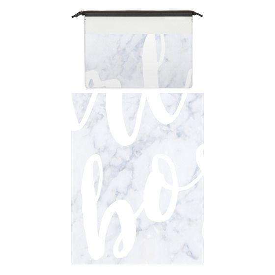 MacBook Pro Retina 15 Sleeves - Girl Boss Script on White Marble for Macbook
