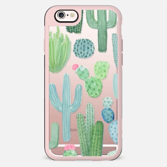 Desert Cactus Garden // Watercolor Cacti -