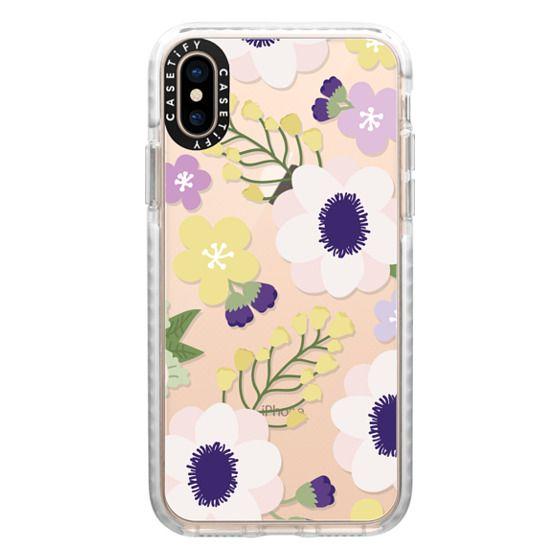 iPhone XS Cases - Anemone Flowers