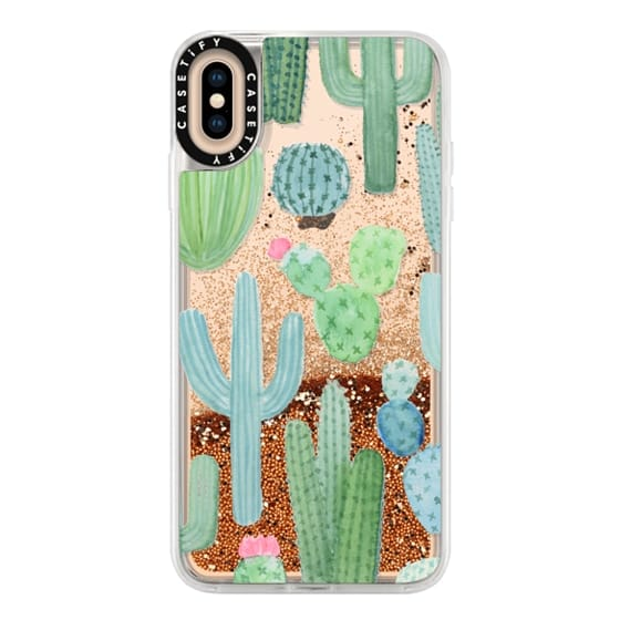 sports shoes 877bf 0fe18 Glitter iPhone XS Max Case - Desert Cactus Garden // Watercolor Cacti