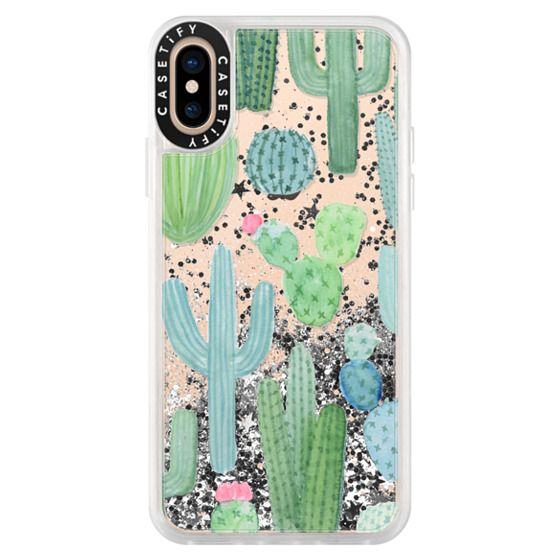 iPhone XS Cases - Desert Cactus Garden // Watercolor Cacti