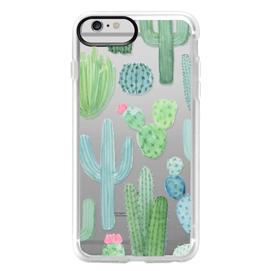 iPhone 6 Plus Cases - Desert Cactus Garden // Watercolor Cacti