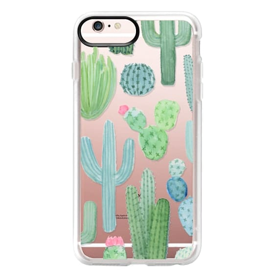 iPhone 6s Plus Cases - Desert Cactus Garden // Watercolor Cacti