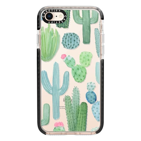 reputable site 8c039 e759c Impact iPhone 8 Case - Desert Cactus Garden // Watercolor Cacti