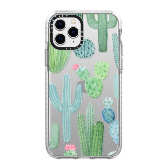 iPhone 11 Pro Cases - Desert Cactus Garden // Watercolor Cacti