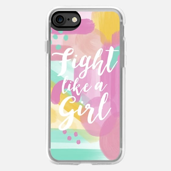Fight Like A Girl Abstract Painting #beatcancer