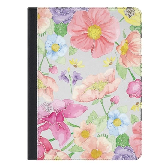 9.7-inch iPad Covers - Pastel Floral Bouquet V2