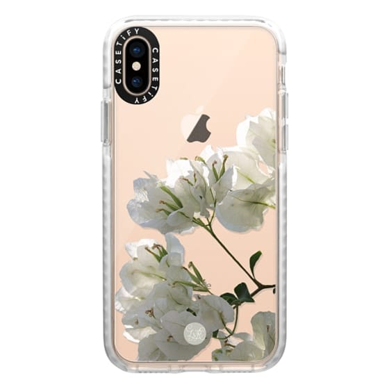 iPhone XS Cases - White Climbing Flowers