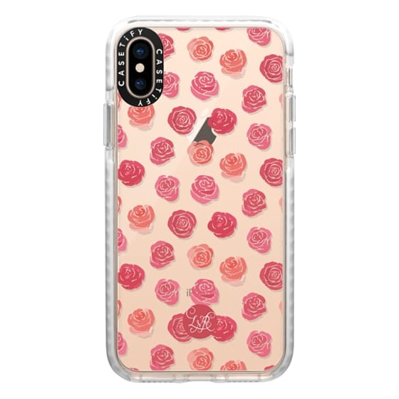 iPhone XS Cases - Paint The Roses Red Clear
