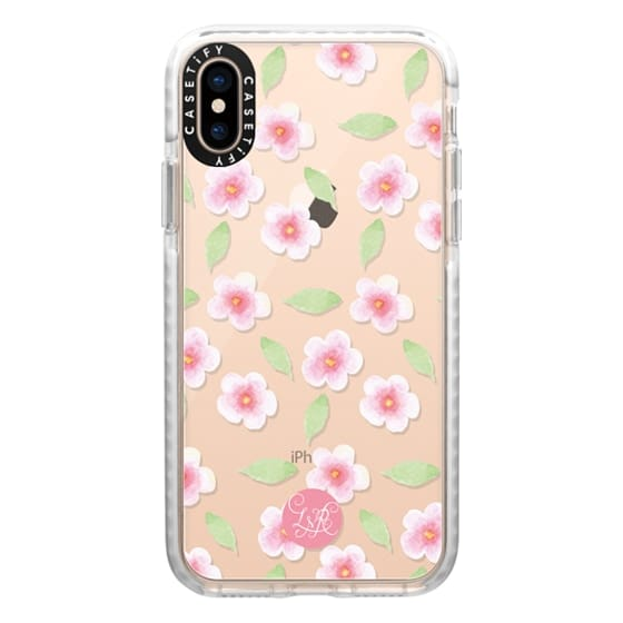 iPhone XS Cases - Cherry Blossom Pattern Clear