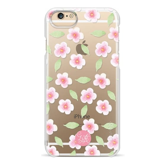 iPhone 6s Cases - Cherry Blossom Pattern Clear