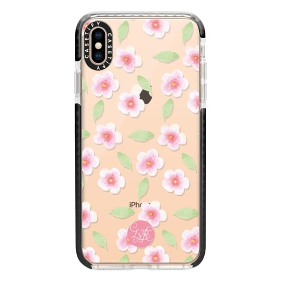 iPhone XS Max Cases - Cherry Blossom Pattern Clear