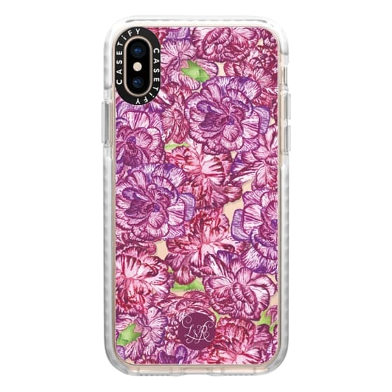 iPhone XS Cases - Pink & Purple Carnations