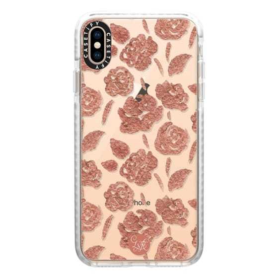 Rose Gold Roses Clear