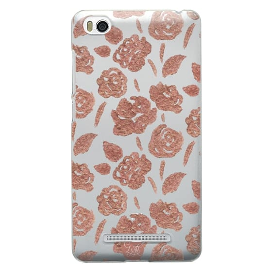 Xiaomi 4i Cases - Rose Gold Roses Clear