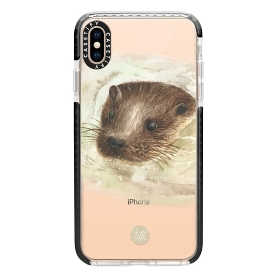 iPhone XS Max Cases - Swimming Otter Clear