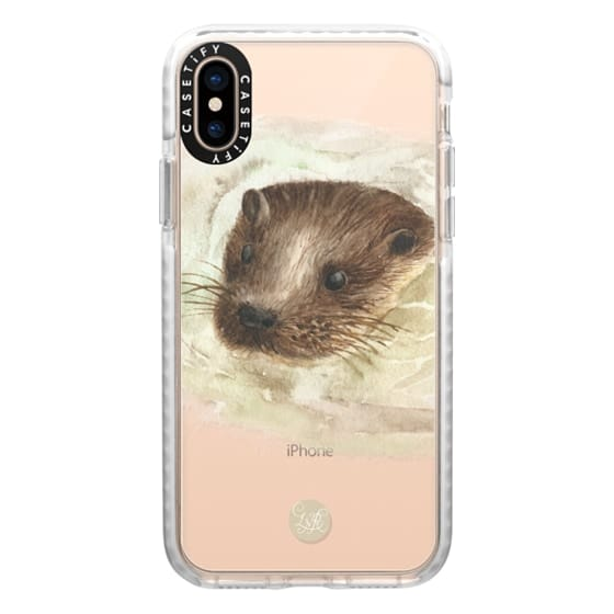 iPhone XS Cases - Swimming Otter Clear
