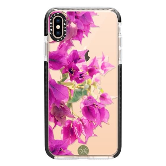 iPhone XS Max Cases - Fuchsia Pink Hanging Flowers