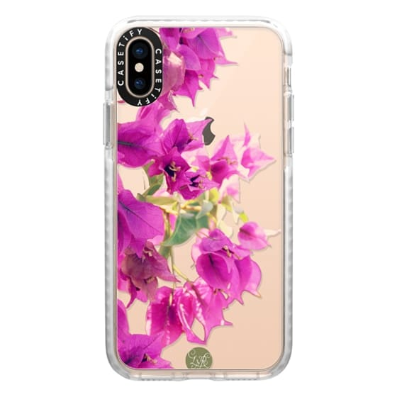 iPhone XS Cases - Fuchsia Pink Hanging Flowers