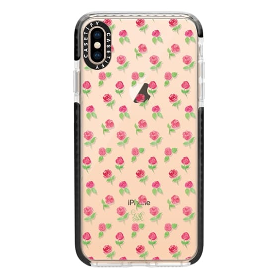 iPhone XS Max Cases - Rosie Posie Clear