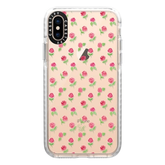 iPhone XS Cases - Rosie Posie Clear