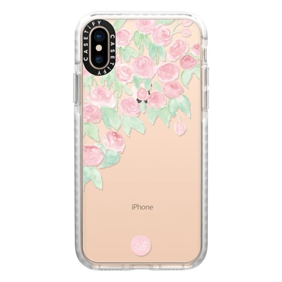 iPhone XS Cases - Hanging Roses Clear