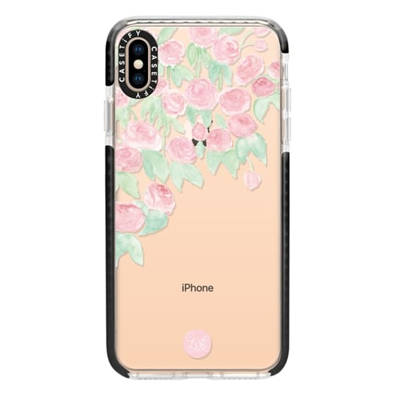 iPhone XS Max Cases - Hanging Roses Clear