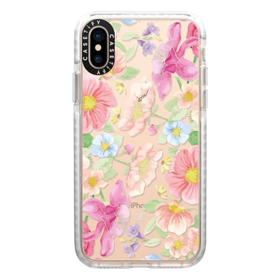 iPhone XS Cases - Pastel Floral Bouquet V3