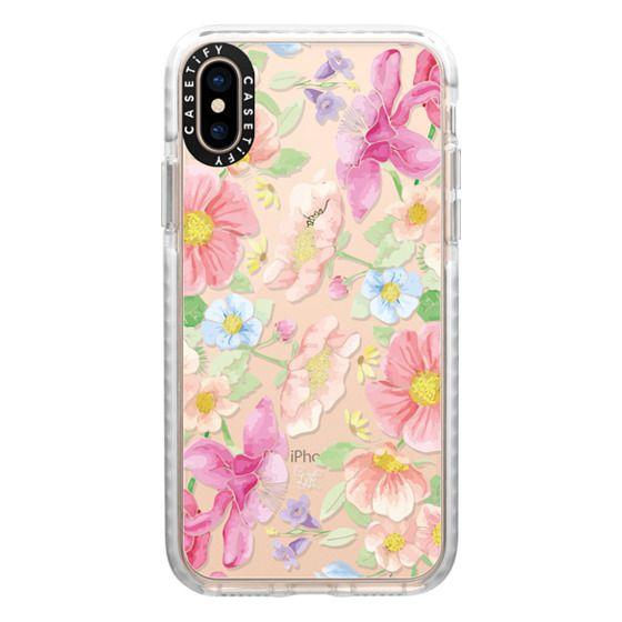 iPhone XS Cases - Pastel Floral Bouquet V3