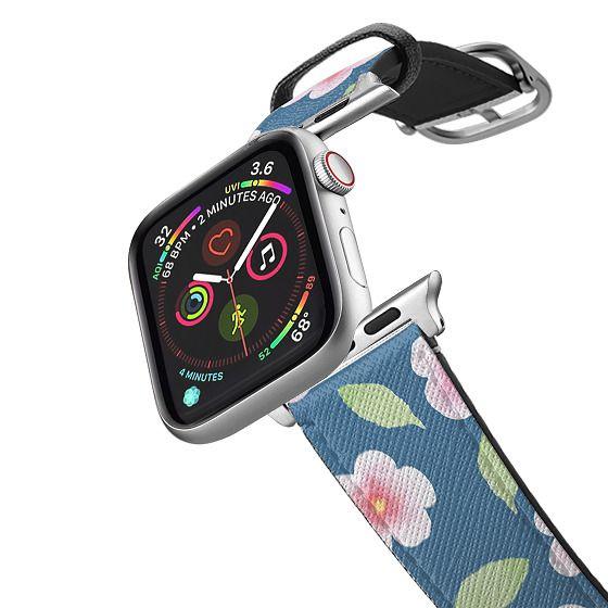 Apple Watch 38mm Bands - Cherry Blossom Pattern Dark Blue