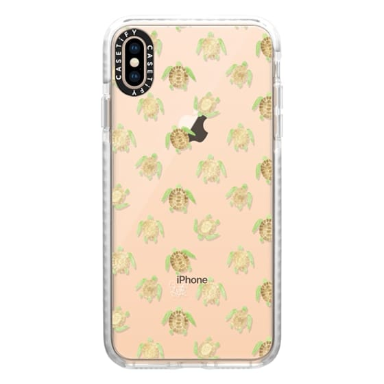 iPhone XS Max Cases - Swimming Turtles