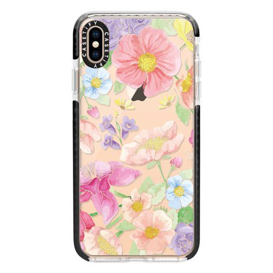 iPhone XS Max Cases - Pastel Floral Bouquet V2