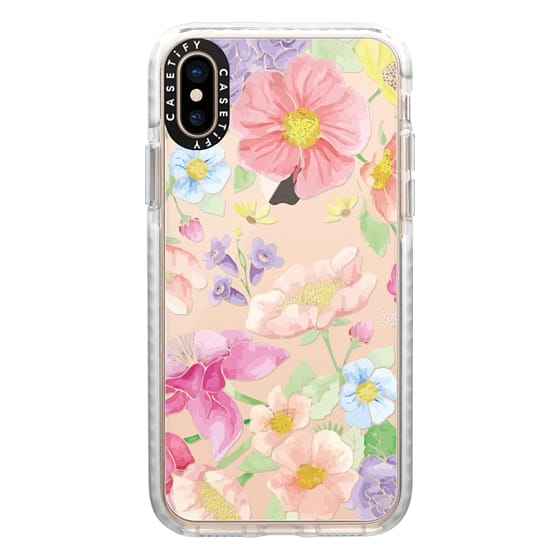 iPhone XS Cases - Pastel Floral Bouquet V2