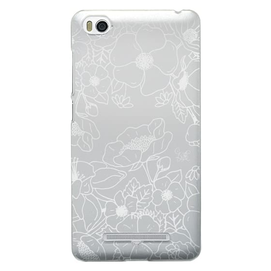 Xiaomi 4i Cases - Floral Outline White