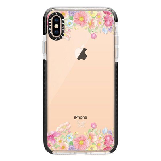 iPhone XS Max Cases - Pastel Floral Bouquet V1