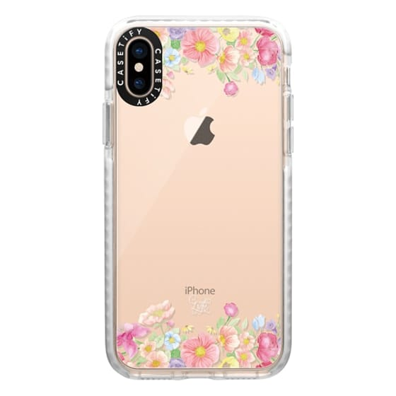 iPhone XS Cases - Pastel Floral Bouquet V1