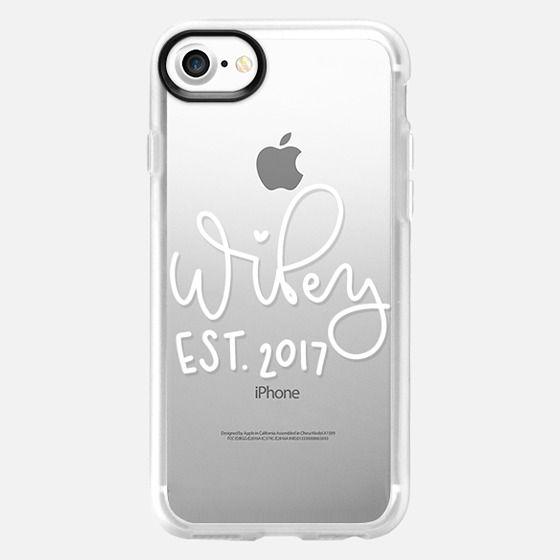 Wifey - White Transparent - Classic Grip Case