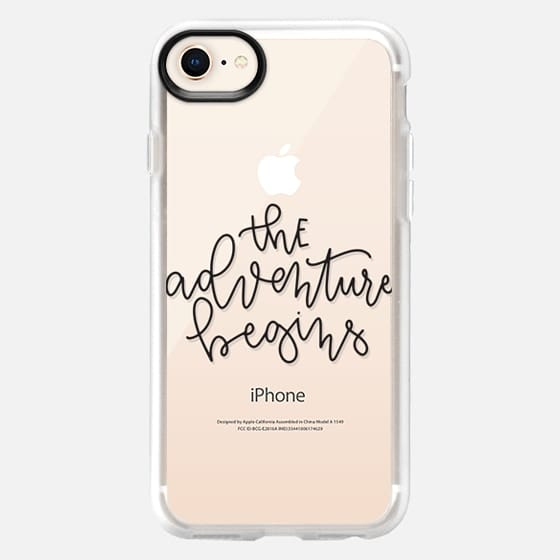 The Adventure Begins - Black Transparent - Snap Case