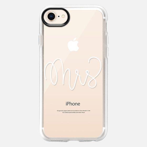 Mrs - White Transparent - Snap Case