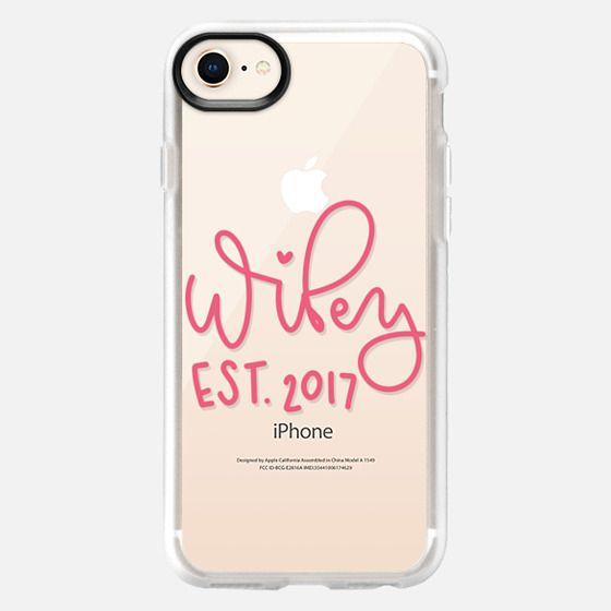 Wifey - Pink Transparent - Snap Case