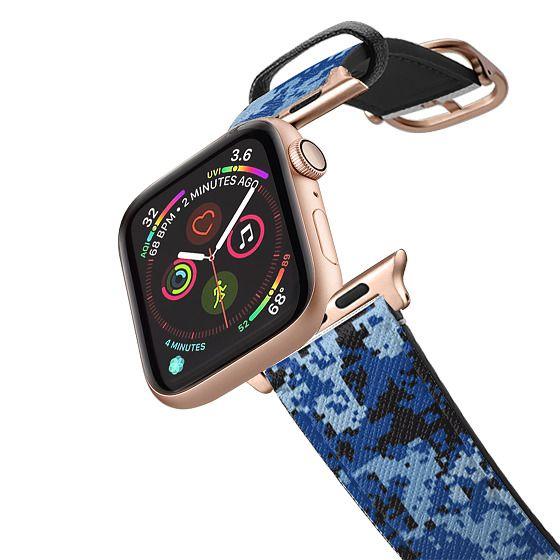 Apple Watch 42mm Bands - DIGITAL BLUE CAMO